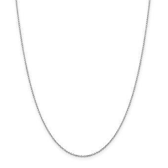 Sterling Silver Polished Lobster Claw Closure 1.25mm Cable Chain Necklace - Lobster Claw - Length: 16 to 30