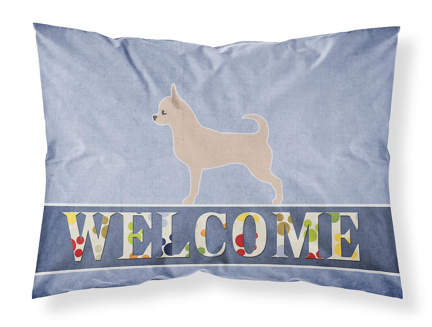 Du Tissu Bienvenue Standard D'oreiller Chihuahua Taie OiuPZkX