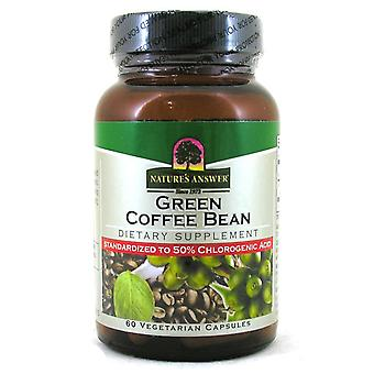 Natures Answer, Green Coffee Bean, 60 capsules