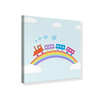 Lienzo de impresión el tren del arco iris