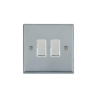 Hamilton Litestat Cheriton Victorian Bright Chrome 2g 250W M-Way Touch Mast BC/WH