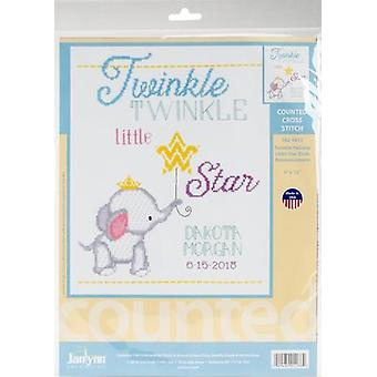 Twinkle Twinkle Little Star Counted Cross Stitch Kit-9