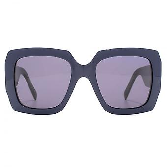 Marc Jacobs J Temple Oversize Square Sunglasses In Blue Black