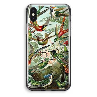 iPhone X gjennomsiktig sak (myk) - Haeckel Trochilidae