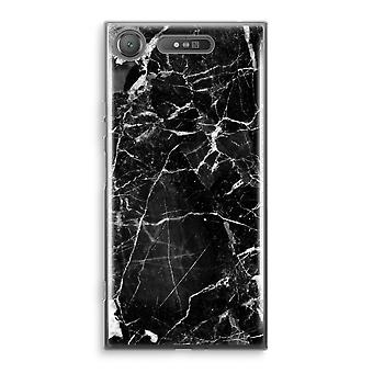 Sony Xperia XZ1 Transparant Case (Soft) - Black Marble 2