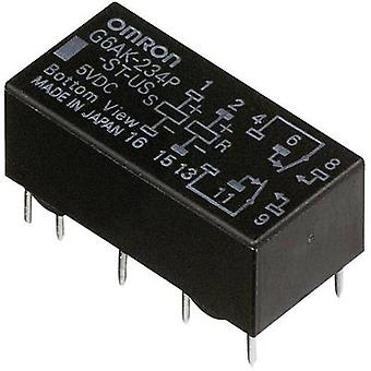 PCB relays 24 Vdc 2 A 2 change-overs Omron G6AK-27