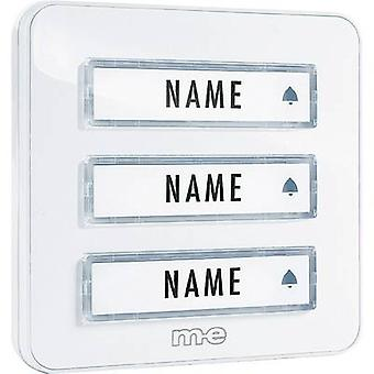 Bell panel with nameplate 3x m-e modern-electronics KTA-3 W