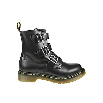 Dr. Martens women's 13665001 black leather ankle boots