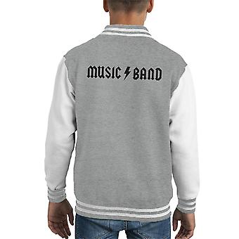 30 Rock Music Band How Do You Do Fellow Kids Music Band Kid's Varsity Jacket