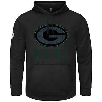 Maestoso HEATHLY felpa con cappuccio - nero NFL Green Bay Packers