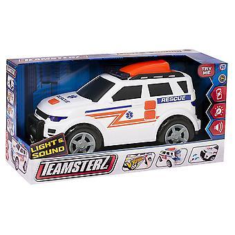 Teamsterz ljus och ljud ambulans fordon leksak, 4 x 4