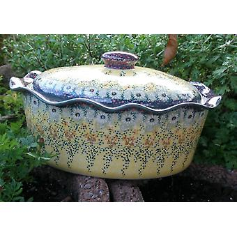 Casserole oval with cover, height 16 cm, Ø 34 x 26 cm, 4 signature, BSN m-1988