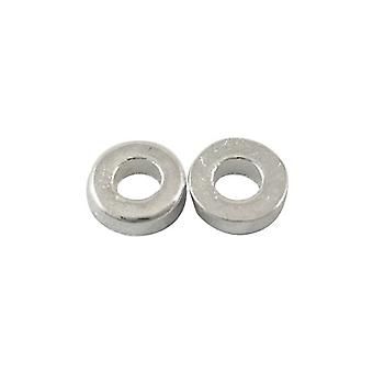 Packet 30 x Antique Silver Tibetan 6mm Donut Spacer Beads HA15250