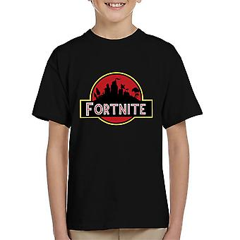 Fortnite Jurassic Park Mix Kid's T-Shirt