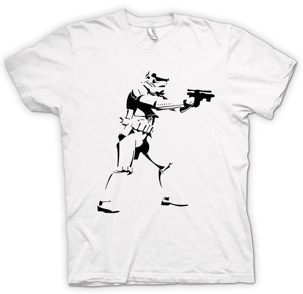 Womens T-shirt-Star Wars - Storm Trooper - Pop Art
