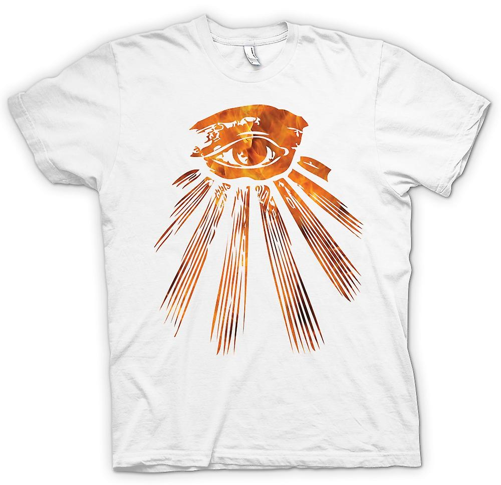 Mens T-shirt-Illuminati alle wakend oog