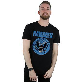 Ramones Herren Blue Seal Logo T-Shirt