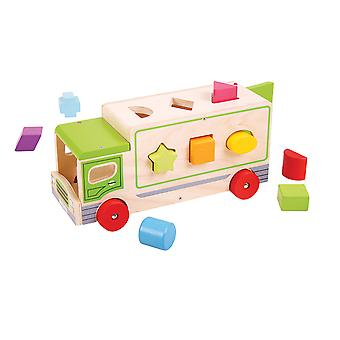 Bigjigs Toys Shape Sorting Lorry