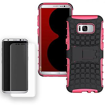 Hybrid case bag 2 piece SWL Pink for Samsung Galaxy S8 G950 G950F + tank slide