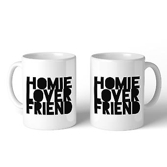 Homie Lover Friend Unique Graphic Coffee Mugs Gift For Newlyweds