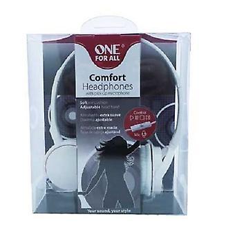 Uno per tutti i Comfort cuffie con microfono pick-up bianco