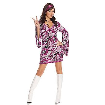 Elegant Moments Vintage Vixen Retro Disco Hippy Halloween Roleplay Costume