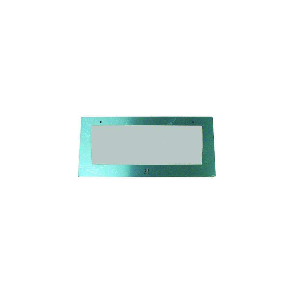 Indesit Stainless Steel Top Oven Door Glass