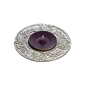 Celtic Candle Holder & Cast Pewter Rim