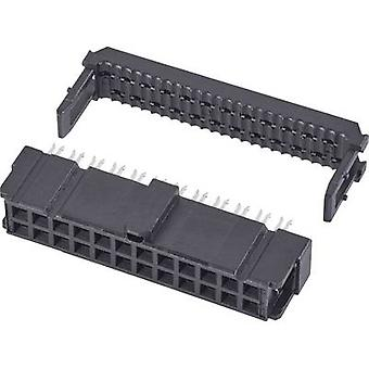 TE Connectivity Socket strip Contact spacing: 2.54 mm Total number of pins: 34 No. of rows: 2 1 pc(s)