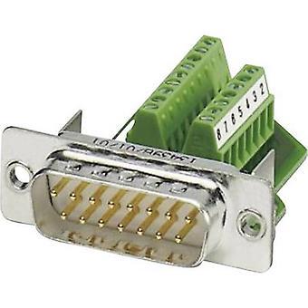 Phoenix Contact VS-15-ST-DSUB/16-MPT-0,5 D-SUB plug 180 ° Number of pins: 15 Screws 1 pc(s)