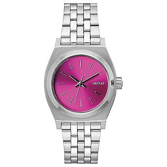 Nixon The Medium Time Teller Watch - Silver/Pink