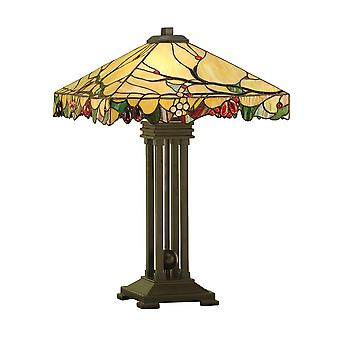 Interiors 1900 Arbois 2 Light Table Lamp In Bronze Finish With T