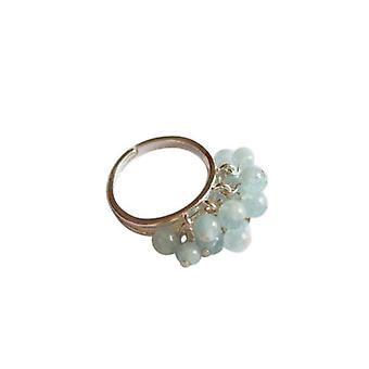 Gemshine - women's - ring - Silver 925 - aquamarine - blue