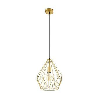 Chandelier geométrica de oro alambre Eglo Carlton