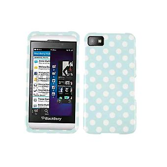 Generieke module op Faceplate Protector Case for Blackberry Z10 - witte stippen op Ligh