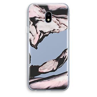 Samsung Galaxy J3 (2017) Transparent Case (Soft) - Pink stream