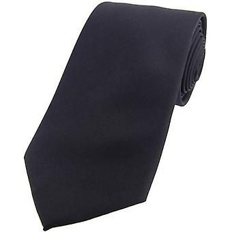 David Van Hagen Satin Silk Tie - Slate Grey