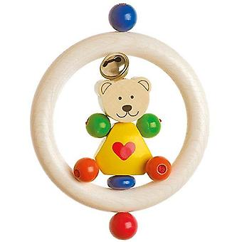 Heimess Touch Ring Rattle Heart Bear Yellow
