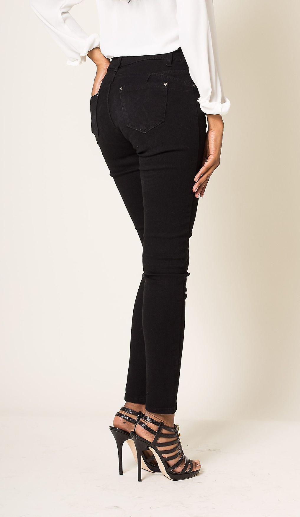 Womens Jeans Trousers Skinny Tube Slim Push Up Stretch Tube Treggings Jeggings
