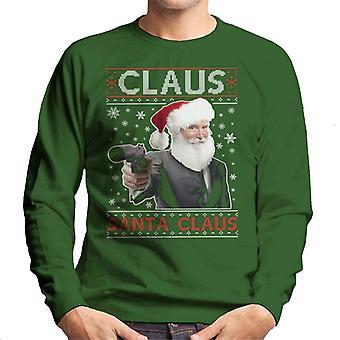 Clause Santa Clause Christmas James Bond Silencer Men's Sweatshirt