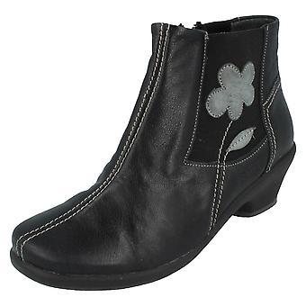 Ladies Suave Zip Ankle Boots Afra