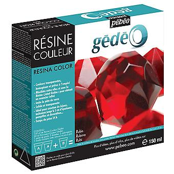 Pebeo Gedeo Colour Resin 150ml (Ruby)