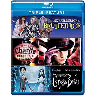Beetlejuice/Charlie & Chocolate Factory/Leiche [BLU-RAY] USA import