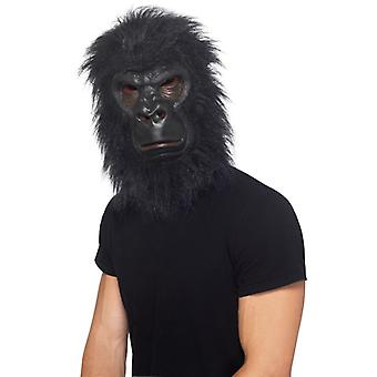 Gorilla mask black with hair foam latex