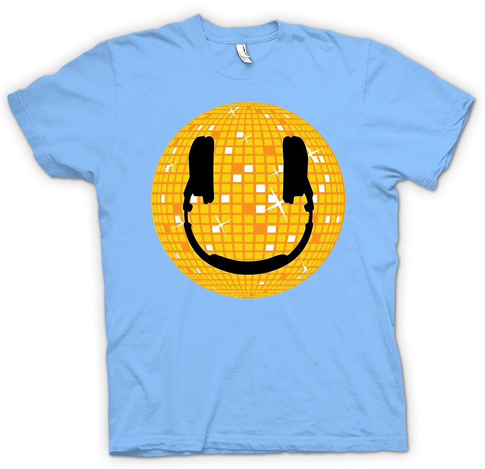 Hommes T-shirt - Smiley - Disco Ball