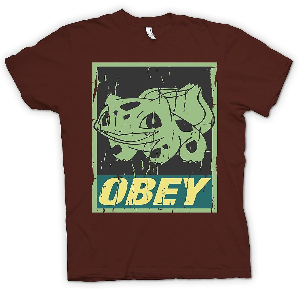 Mens t-shirt-Bulbasaur obbedire - Cool Pokemon ispirato