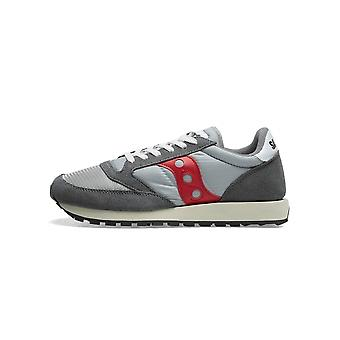 Saucony Saucony Grey & Red Jazz Original Vintage Sneaker