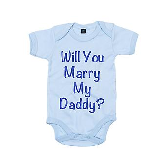 Will You Marry My Daddy Blue Baby Grow