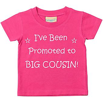 I've Been Promoted to Big Cousin Pink Tshirt