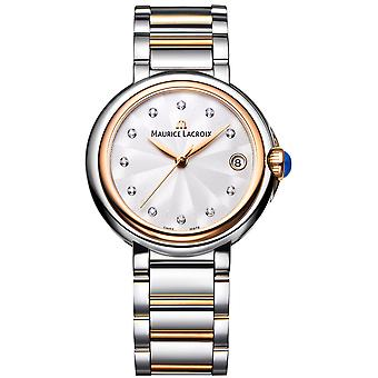 Maurice LaCroix Fiaba Stainless Steel Gold Diamond Index Watch
